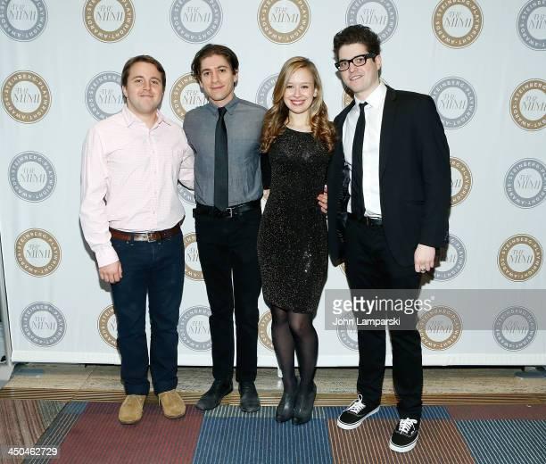 Josh Harmon Michael Zegen Molly Ranson and Phillip Ettinger attends the 6th Annual Mimi Awards at the Vivian Beaumont Theatre at Lincoln Center on...