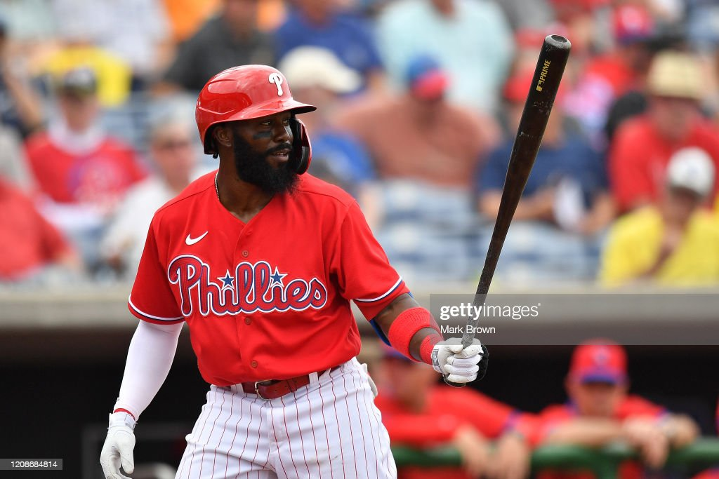 Josh Harrison of the Philadelphia Phillies in action during the... News  Photo - Getty Images