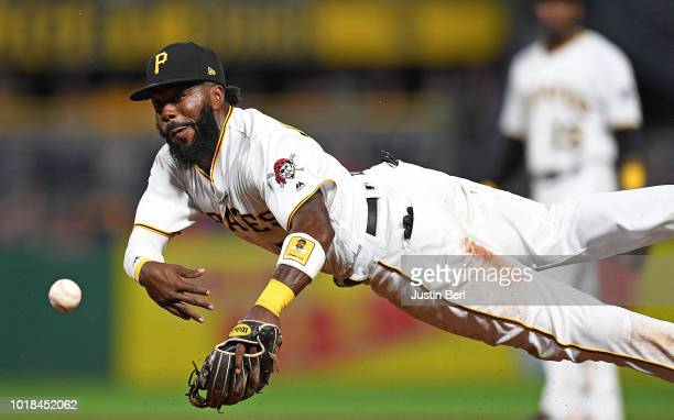 Keone Kela of the Pittsburgh Pirates delivers a pitch in the ninth inning during the game against the Chicago Cubs at PNC Park on August 17 2018 in...