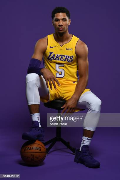 Josh Hart of the Los Angeles Lakers poses for a portrait during media day at UCLA Health Training Center on September 25 2017 in El Segundo...