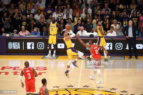 Josh Hart of the Los Angeles Lakers shoots the ball against the Houston Rockets on October 20 2018 at STAPLES Center in Los Angeles California NOTE...