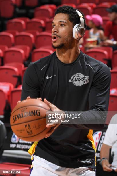 4f7593a9b0ff Josh Hart of the Los Angeles Lakers warms up prior to the game against the  the