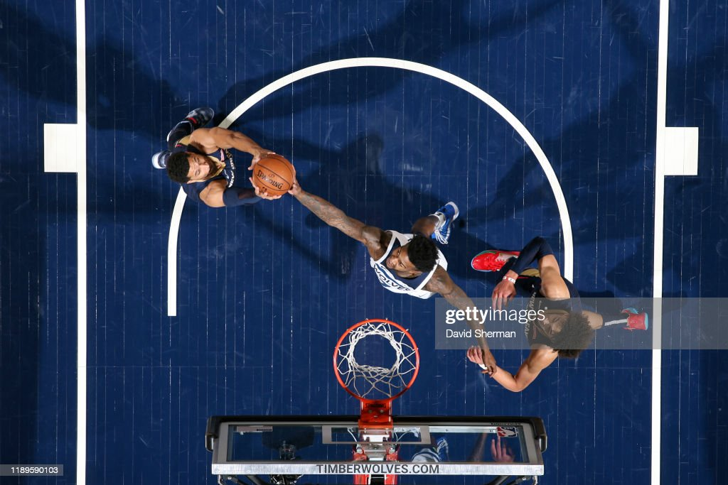 Josh Hart Of The New Orleans Pelicans And Jordan Bell Of The