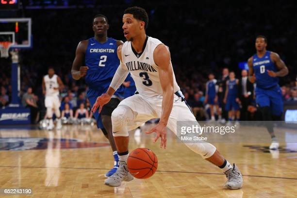 Josh Hart of the Villanova Wildcats drives to the basket against the Creighton Bluejays during the Big East Basketball Tournament Championship Game...