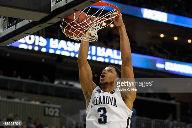 Josh Hart of the Villanova Wildcats dunks the ball against the Lafayette Leopards in the second half during the second round of the 2015 NCAA Men's...