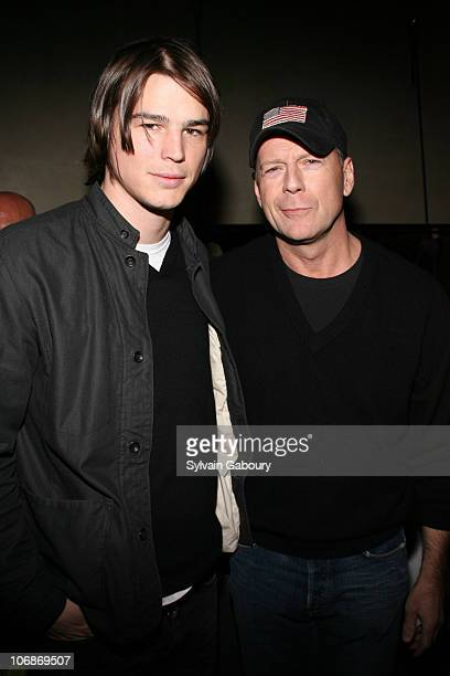 """Josh Hartnett and Bruce Willis during The Weinstein Company's Premiere of """"Lucky Number Slevin"""" after party at the Royalton Hotel at Royalton Hotel..."""