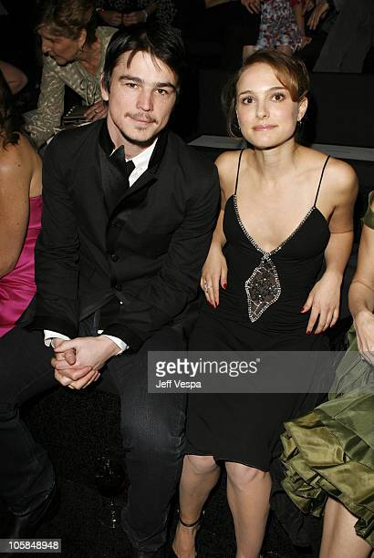 Josh Hartnett and Natalie Portman during Giorgio Armani Prive in L.A. - Front Row at Green Acres in Los Angeles, California, United States.