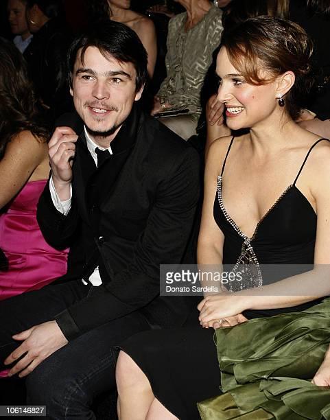 Josh Hartnett and Natalie Portman during Giorgio Armani Prive in L.A. - Inside at Green Acres in Los Angeles, California, United States.