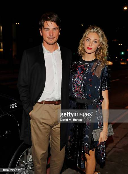 Josh Hartnett and Tamsin Egerton arrive in an Audi at the British Independent Film Awards 2018 at Old Billingsgate on December 2 2018 in London...