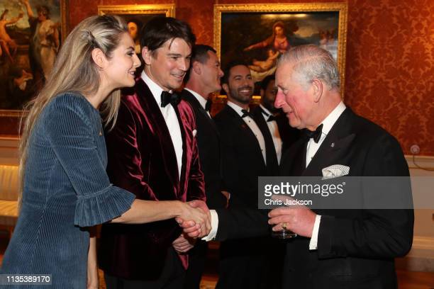 Josh Hartnett and Tamsin Egerton attend dinner to celebrate The Prince's Trust hosted by Prince Charles Prince of Wales at Buckingham Palace on March...