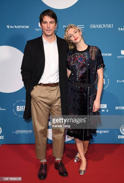 Josh Hartnett and Tamsin Egerton attend the 21st British Independent Film Awards at Old Billingsgate on December 2 2018 in London England