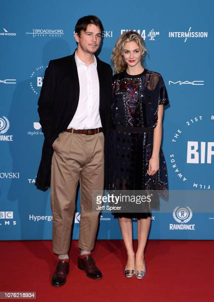 Josh Hartnett and Tamsin Egerton attend the 21st British Independent Film Awards at Old Billingsgate on December 02 2018 in London England