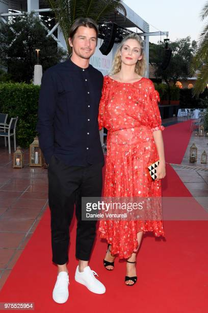 Josh Hartnett and Tamsin Egerton attend the 'Filming Italy Sardegna Festival' Dinner at Forte Village Resort on June 15 2018 in Santa Margherita di...