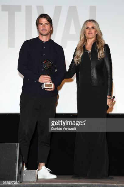 Josh Hartnett and Tiziana Rocca attend the 'Filming Italy Sardegna Festival' Dinner at Forte Village Resort on June 15 2018 in Santa Margherita di...