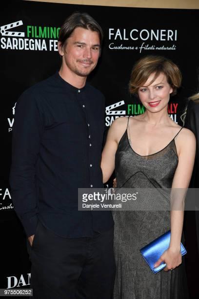Josh Hartnett and Violante Placido attend the 'Filming Italy Sardegna Festival' Dinner at Forte Village Resort on June 15 2018 in Santa Margherita di...