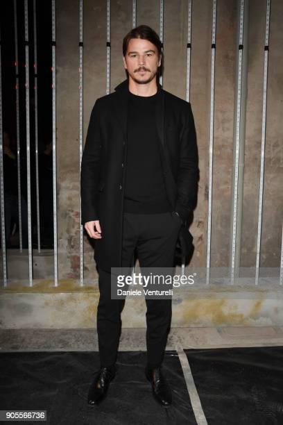 Josh Hartnett attends the Dsquared2 show during Milan Menswear Fashion Week Fall/Winter 2018/19 on January 14, 2018 in Milan, Italy.