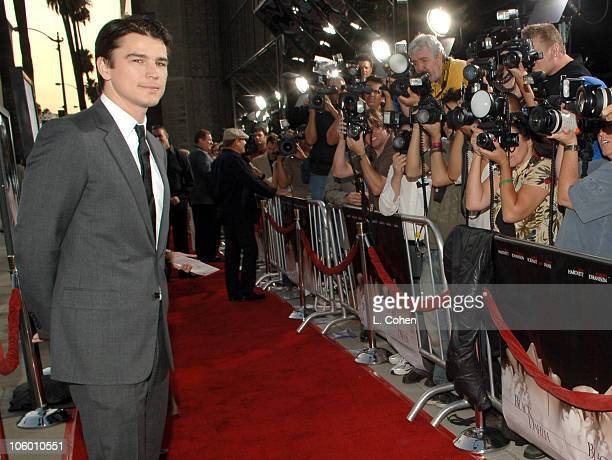 """Josh Hartnett during """"The Black Dahlia"""" Los Angeles Premiere - Red Carpet at Academy of Motion Picture Arts and Sciences in Beverly Hills,..."""