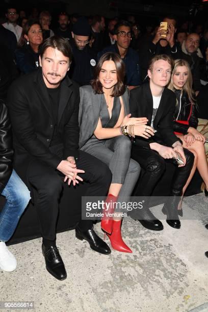 Josh Hartnett Kasia Smutniak Patrick Gibson and Joanna Kuchta attend the Dsquared2 show during Milan Menswear Fashion Week Fall/Winter 2018/19 on...