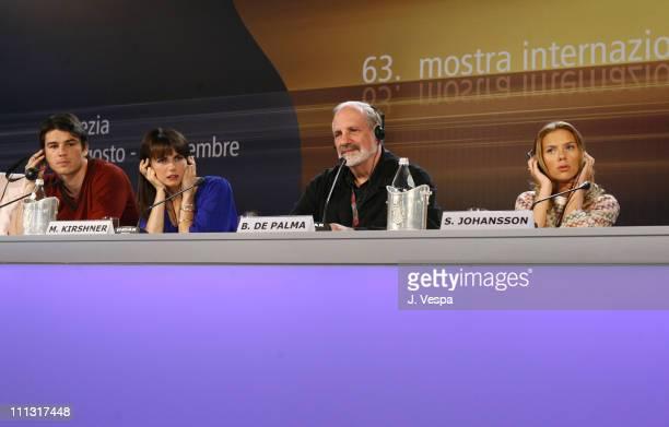 Josh Hartnett Mia Kirshner Brian De Palma director and Scarlett Johansson