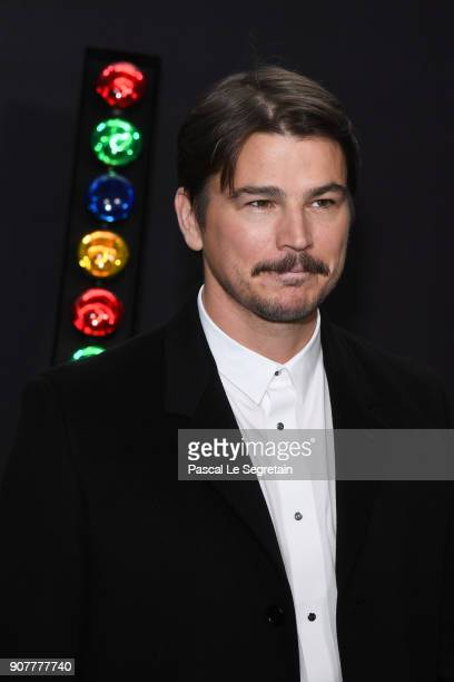 Josh Hartnett poses at Dior Homme Menswear Fall/Winter 20182019 show as part of Paris Fashion Week at Grand Palais on January 20 2018 in Paris France