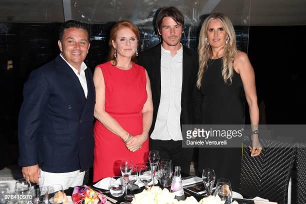 Josh Hartnett Sarah Ferguson Tiziana Rocca and FrancoisMarc Sastre attend the 'Filming Italy Sardegna Festival' Dinner at Forte Village Resort on...