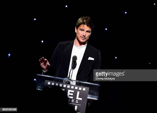 Josh Hartnett speaks at the 6th Annual Reel Stories, Real Lives event benefiting MPTF at Milk Studios on November 2, 2017 in Hollywood, California.