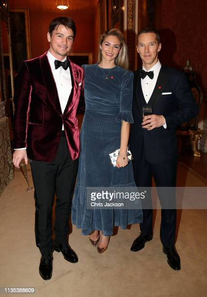 Josh Hartnett Tamsin Egerton and Benedict Cumberbatch attend a dinner to celebrate The Prince's Trust hosted by Prince Charles Prince of Wales at...