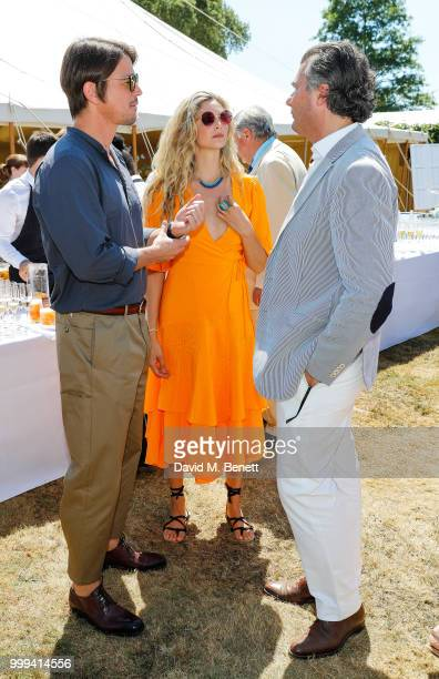 Josh Hartnett Tamsin Eggerton and Laurent Feniou attend Cartier Style Et Luxe at The Goodwood Festival Of Speed Goodwood on July 15 2018 in...