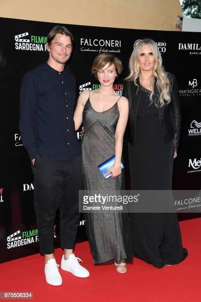 Josh Hartnett Violante Placido and Tiziana Rocca attend the 'Filming Italy Sardegna Festival' Dinner at Forte Village Resort on June 15 2018 in Santa...