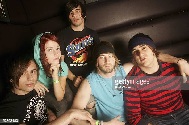 Josh, Hayley, Hunter, Jeremy and Zac of Paramore are seen at the Warped Tour 2006 Press Night and Party at Plush at the Key Club on April 20, 2006 in...