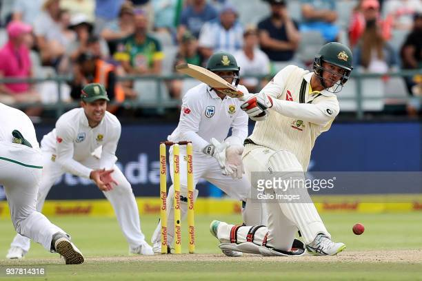 Josh Hazelwood from Australia during day 4 of the 3rd Sunfoil Test match between South Africa and Australia at PPC Newlands on March 25 2018 in Cape...