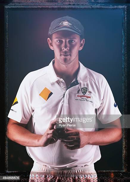 Josh Hazlewood of Australia poses during an Australian Test Cricket Portrait Session on October 19 2015 in Sydney Australia