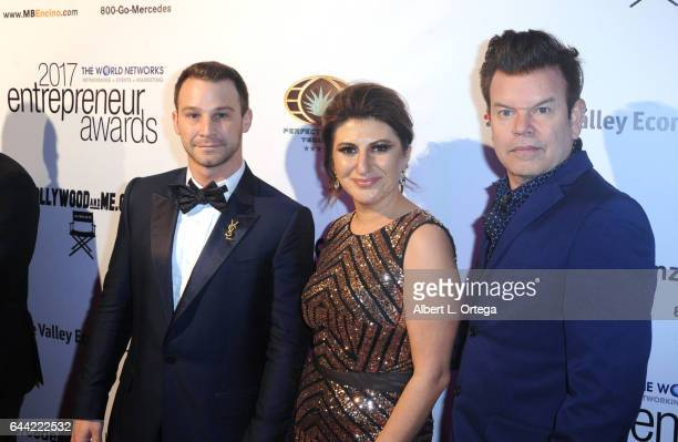 Josh Heffler President/founder Lousine Karibian of The World Networks and Paul Oakenfold at the 2017 Entrepreneur Awards held at Allure Events And...