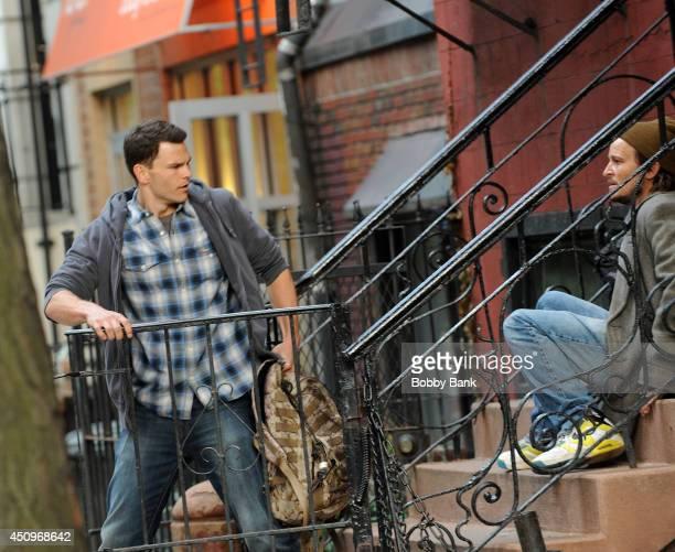 "Josh Helman and Damon Herriman on the set of ""Flesh and Bone"" on June 20, 2014 in New York City."