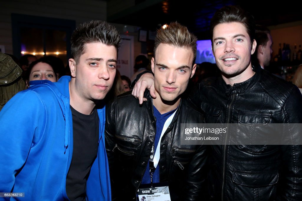 Josh Henderson (R) and guests attend the NYLON And The Hulu Original The Handmaid's Tale Celebrate SXSTYLE At #TwitterHouse at Bar 96 on March 14, 2017 in Austin, Texas.