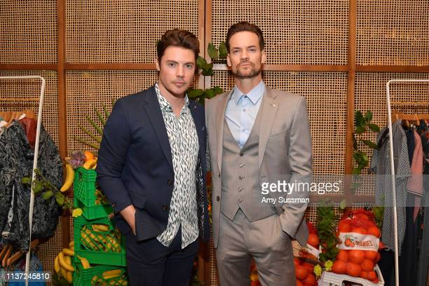 Josh Henderson and Shane West attend the Ted Baker London SS'19 Launch Event at Elephante on March 20 2019 in Santa Monica California