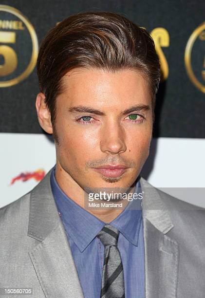 Josh Henderson attends party to celebrate the new Channel 5 television series of 'Dallas' at Old Billingsgate on August 21 2012 in London United...