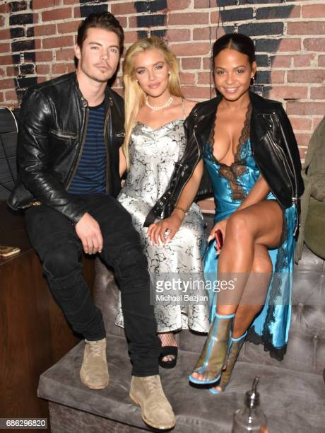 Josh Henderson Jean Watts and Christina Milian attends Karma International 9th Annual Masquerade Ball on May 20 2017 in Los Angeles Californi