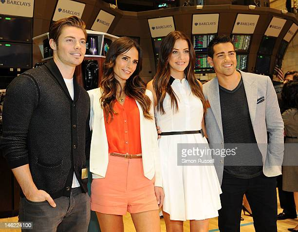 Josh Henderson Jordana Brewster Julie Gonzalo and Jesse Metcalfe the cast of the new series Dallas visit The New York Stock Exchange to ring the...