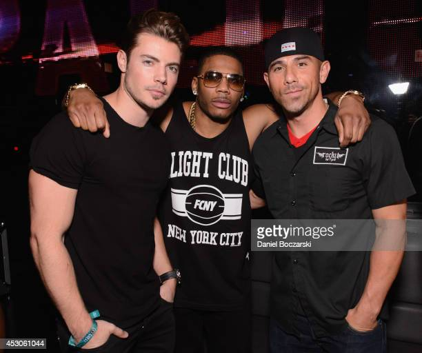 Josh Henderson, Nelly and Billy Dec attend the Lollapalooza Weekend afterparty at The Underground on August 1, 2014 in Chicago, Illinois.