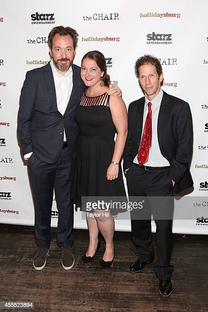 Josh Hetzler Julie Buck and Tim Blake Nelson attend the Hollidaysburg premiere at Tribeca Grand Hotel on September 15 2014 in New York City