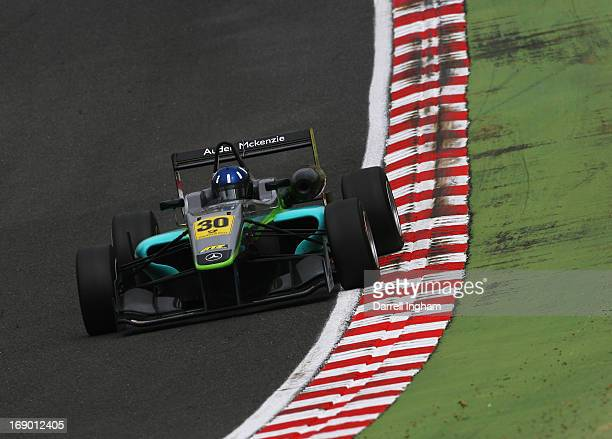 Josh Hill of Great Britain and son of former Formula 1 World Champion Damon Hill drives the Fortec Motorsports Dallara F312 Mercedes during the FIA...