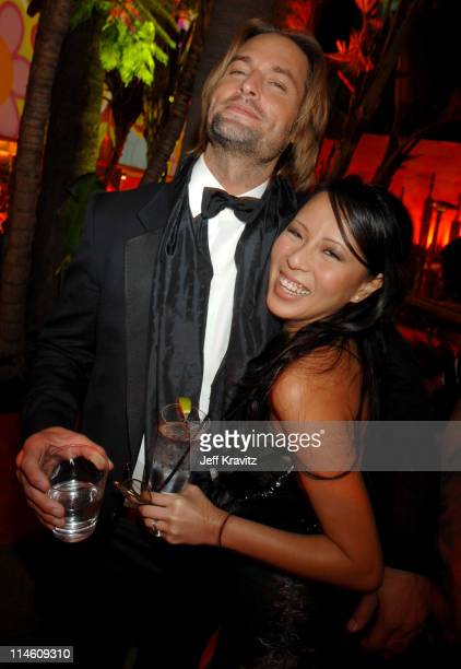 Josh Holloway and Wife during HBO 2007 Golden Globe After Party Inside at Beverly Hilton in Beverly Hills California United States