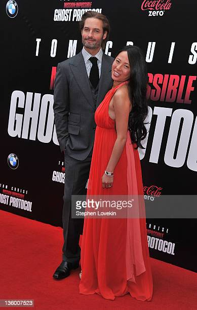 Josh Holloway and Yessica Kumala attend the 'Mission Impossible Ghost Protocol' US premiere at the Ziegfeld Theatre on December 19 2011 in New York...