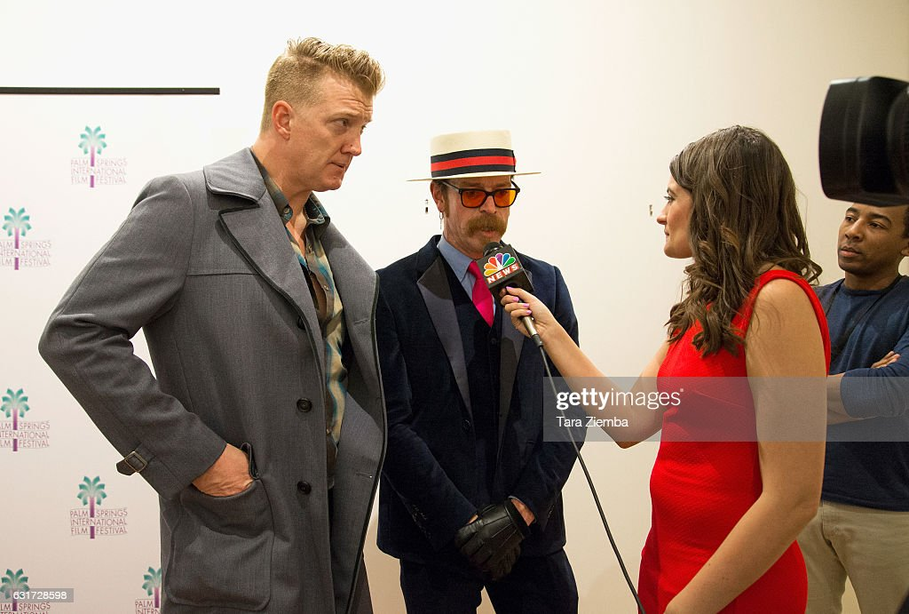 Josh Homme and Jesse Hughes attend a screening of 'Eagles Of Death Metal: Nos Amis' at the 28th Annual Palm Springs International Film Festival at Annenberg Theater on January 14, 2017 in Palm Springs, California.
