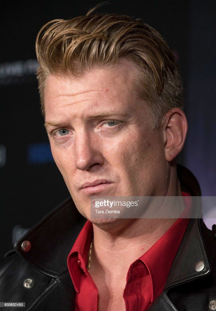Josh Homme arrives for the premiere of HBO's 'Eagles Of Death Metal: Nos Amis (Our Friends)' at Avalon Hollywood on February 2, 2017 in Los Angeles, California.