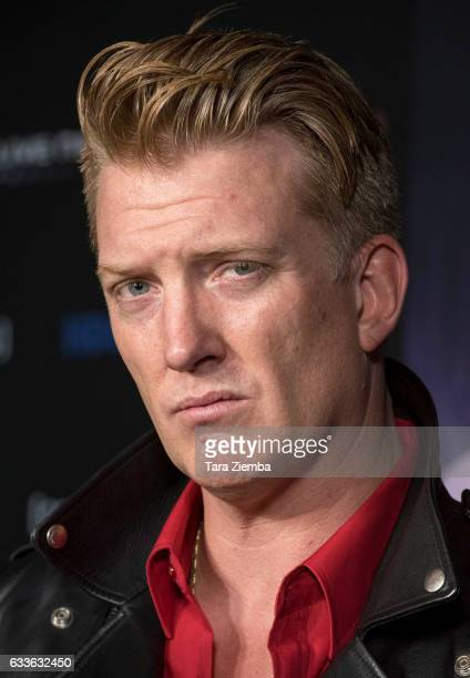Josh Homme arrives for the premiere of HBO's 'Eagles Of Death Metal Nos Amis ' at Avalon Hollywood on February 2 2017 in Los Angeles California