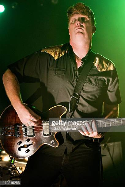Josh Homme of Queens of the Stone Age performs at the Riviera Theatre on April 1, 2011 in Chicago, Illinois.