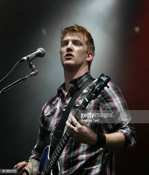 Josh Homme of the band Queens of the Stone Age performs live on day 3 of the 39th Pinkpop Festival on June 1 2008 in Landgraaf Netherlands