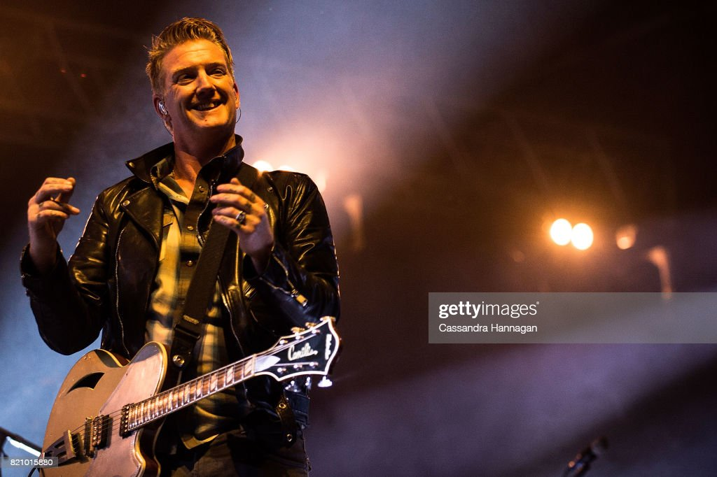 Josh Homme of the band Queens of the Stoneage performs during Splendour in the Grass 2017 on July 22, 2017 in Byron Bay, Australia.